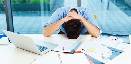 شکست کار و کاسبی frustrated-at-work