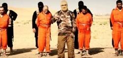 داعش 4 نفر را زنده،کباب کرد+عکس