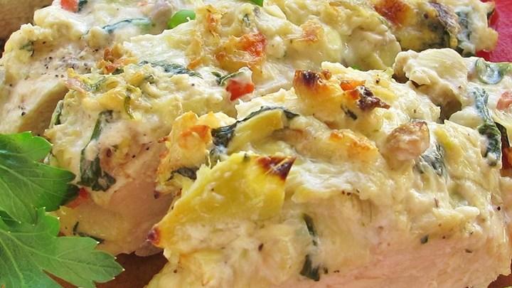 طرز تهیه خوراک مرغ و کنگر فرنگی