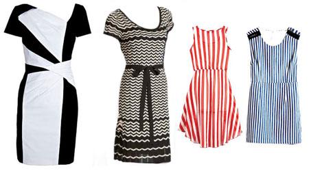 خطوط در لباس
