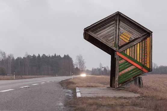 عجیب ترین ایستگاه اتوبوس