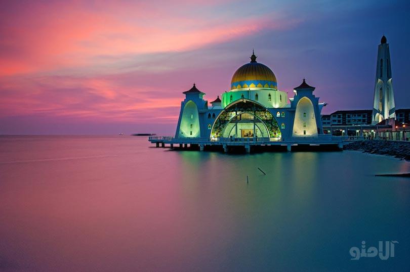 جاهای دیدنی ملاکا مالزی,مسجد سلت ملاکا-masjid_selat