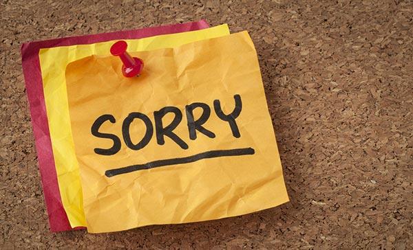 معذرت خواهی کردن apology