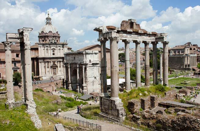 خرابه های عجیب و دیدنی در سراسر دنیا,رومن فوروم-roman-forum-italy