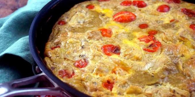 طرز تهیه املت کنگر فرنگی و گوجه