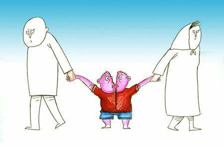 کودکان طلاق در دام کاریکاتوریست ها!