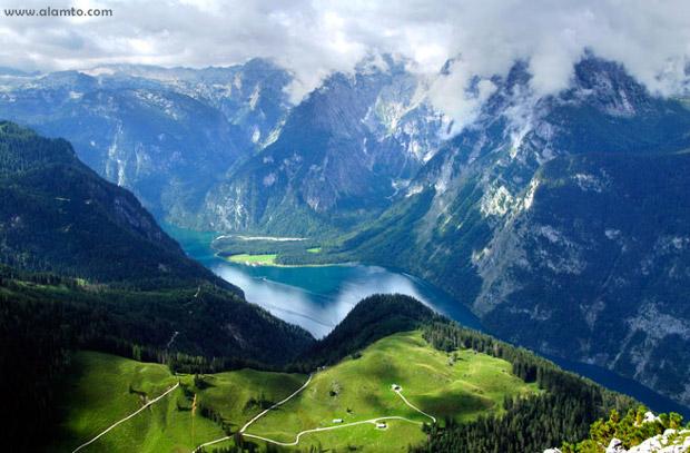 جاذبه های گردشگری کمتر دیده شده و آرام,Schonau-am-Konigsee-Germany شوناو ام کونیگزی