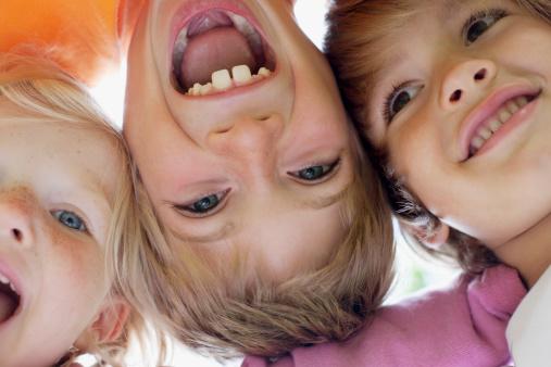 Close up of children smiling
