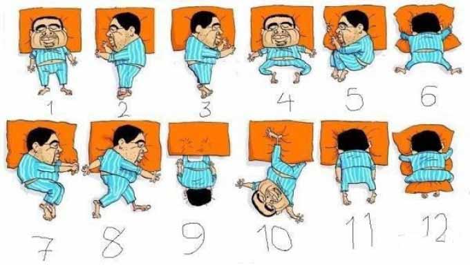شخصیت شناسی طرز خوابیدن