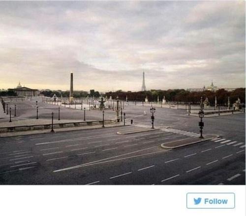 خیابان های خالی پاریس