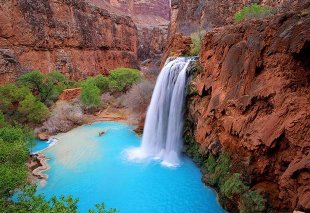 3.استخر طبیعی Havasu Falls
