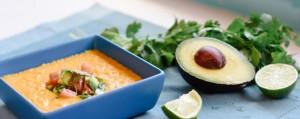 طرز تهیه سوپ با سالسای آووکادو