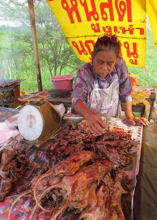 موش کبابی تازه در تایلند