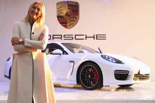 Maria Sharapova attends Porsche presentation at the Rodina Grand Hotel & Spa in Sochi