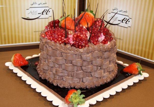 کیک یلدایی ناتلی