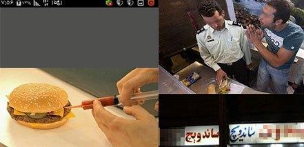 ساندویچ فروشی که در کرمانشاه ویروس ایذر را پخش می کرد