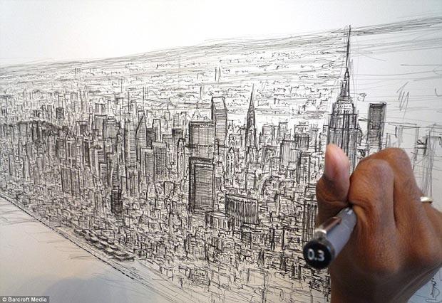نقاشیهای این نقاش از حفظ خیرهکننده است + تصاویر
