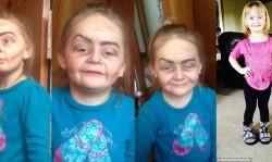 گریم جالب دختر 3 ساله، او را ستاره کرد!+عکس