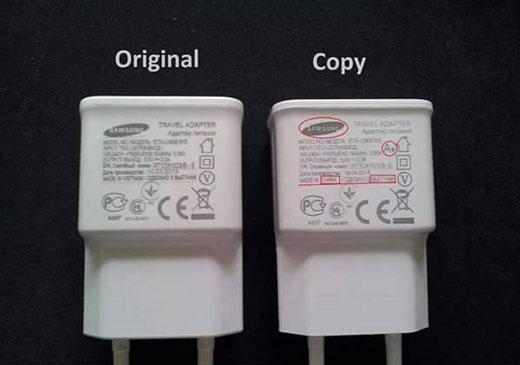تفاوت شارژر تقلبی با اصل+ عکس