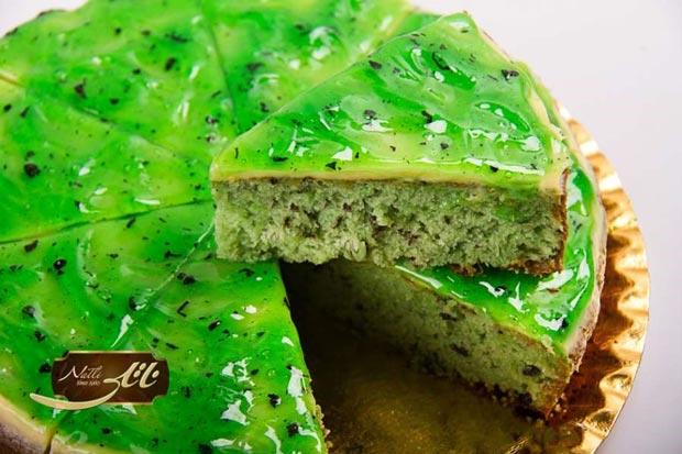 کیک چای سبز