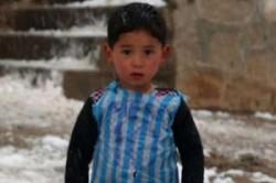 کودک افغان، لیونل مسی را خواهد دید!