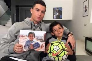 کریستیانو رونالدو و پسرش