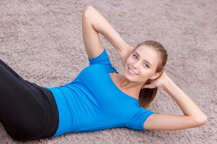 ورزش استرس bigstock-Happy-girl-doing-exercises