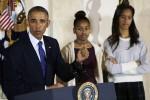 باراک اوباما و دخترانش obama