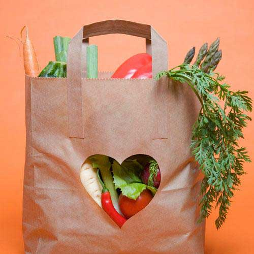 کاهش کلسترول shopping-bag-heart