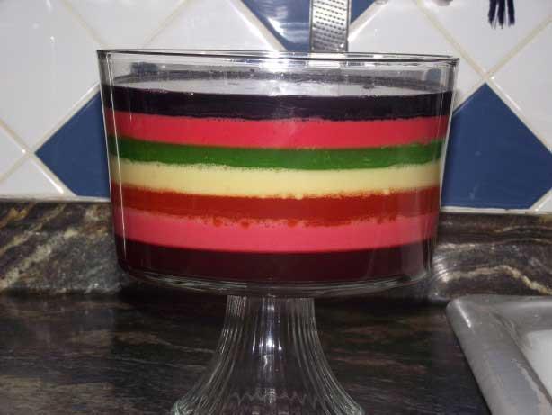 طرز تهیه ژله چند رنگ