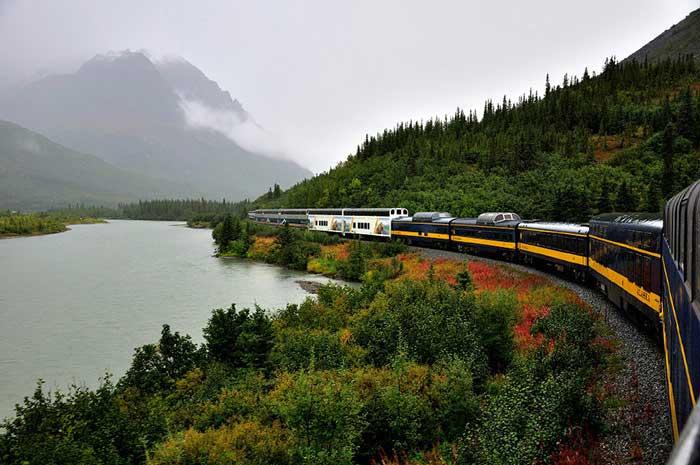 مسیر سفر با قطار Denali-Star-Route-Alaska,زیباترین مسیرهای ریلی جهان