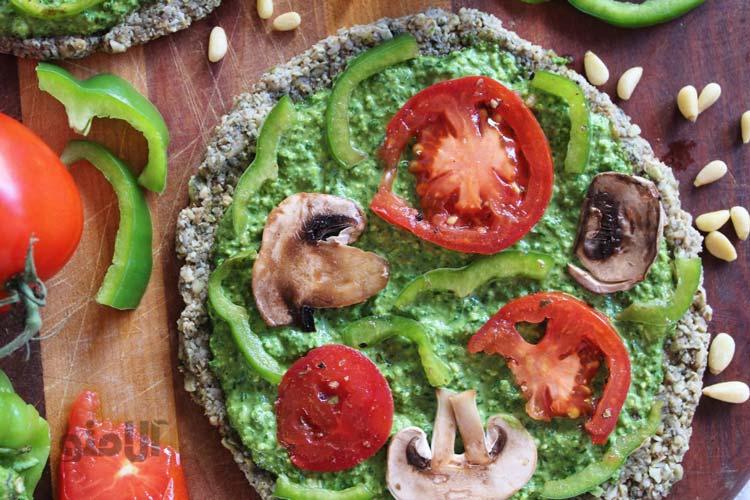 طرز تهیه پیتزا مخصوص خام گیاه خواران