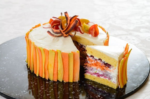 کیک سبزیجات