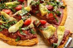 دستور پخت پیتزای سبزیجات و بدون گلوتن