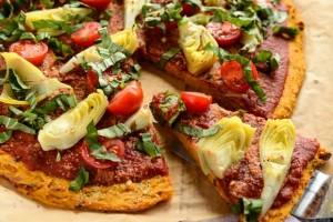 پیتزا سبزیجات بدون گلوتن