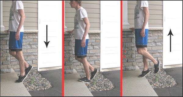 Heel-Drop به زمین انداختن پاشنه پا