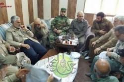 سردار قاسم سلیمانی در اتاق عملیات فلوجه+عکس