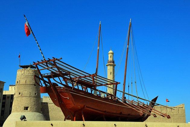 جاهای دیدنی دبی,جاذبه گردشگری شهر دبی - موزه دبی-uae-dubai-dubai-museum-exterior