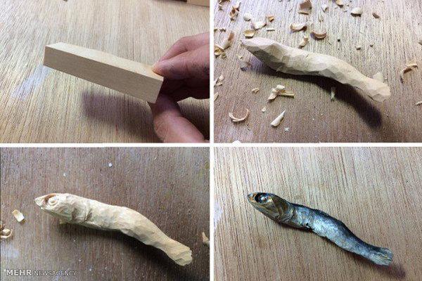 هنرنمایی - خوراکیای چوبی