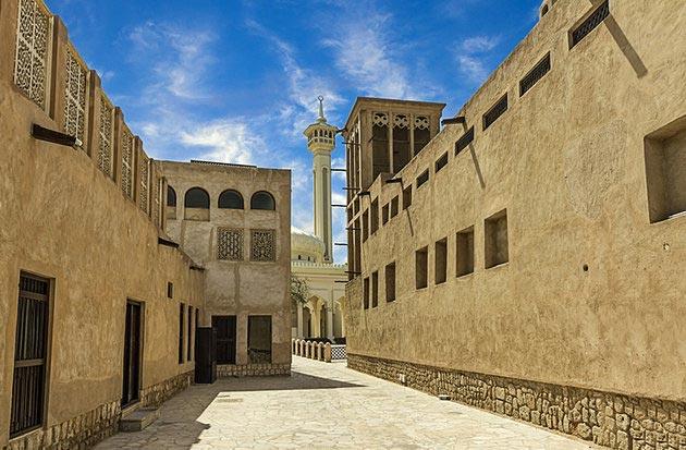 جاهای دیدنی دبی,جاذبه گردشگری شهر دبی - بستکیه-uae-dubai-bastakia-restored-street