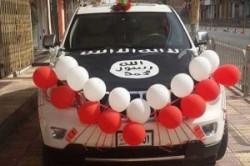 ماشین عروس به سبک داعش!+عکس