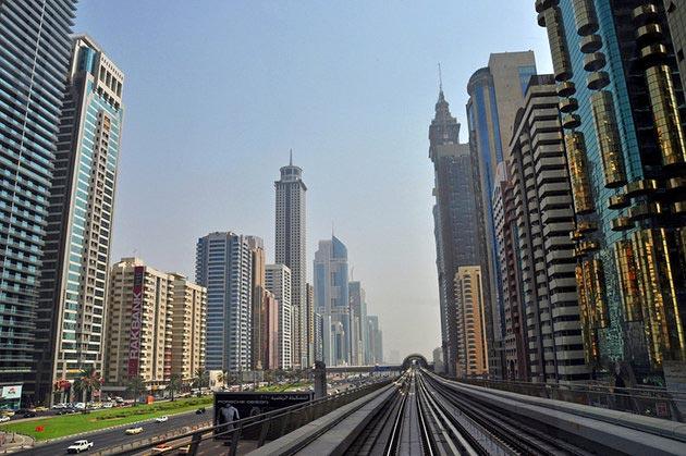 جاهای دیدنی دبی,جاذبه گردشگری شهر دبی - جاده شیخ زاید-uae-dubai-sheikh-ziyeed-road