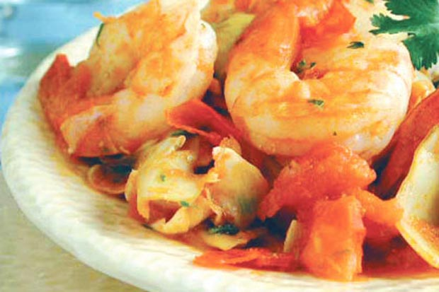 خوراک میگو shrimp