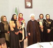 بازیگران زن در کنار حسن روحانی