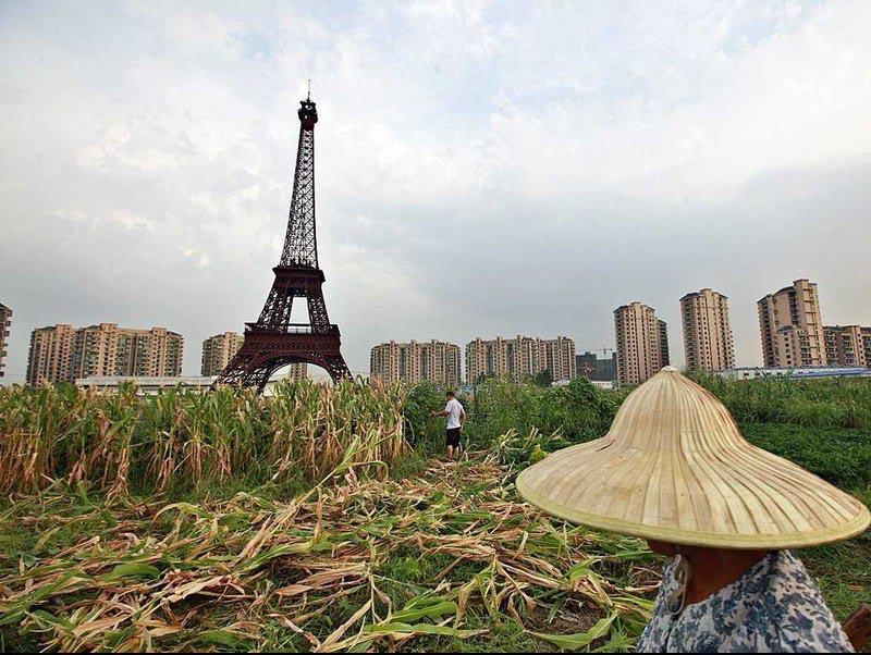 برج تقلبی ایفل در چین