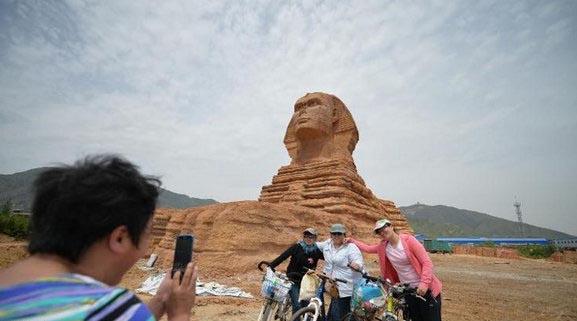 مجسمه تقلبی «ابوالهول» در چین