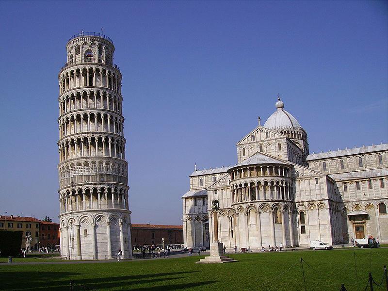 برج اصلی پیزا در ایتالیا
