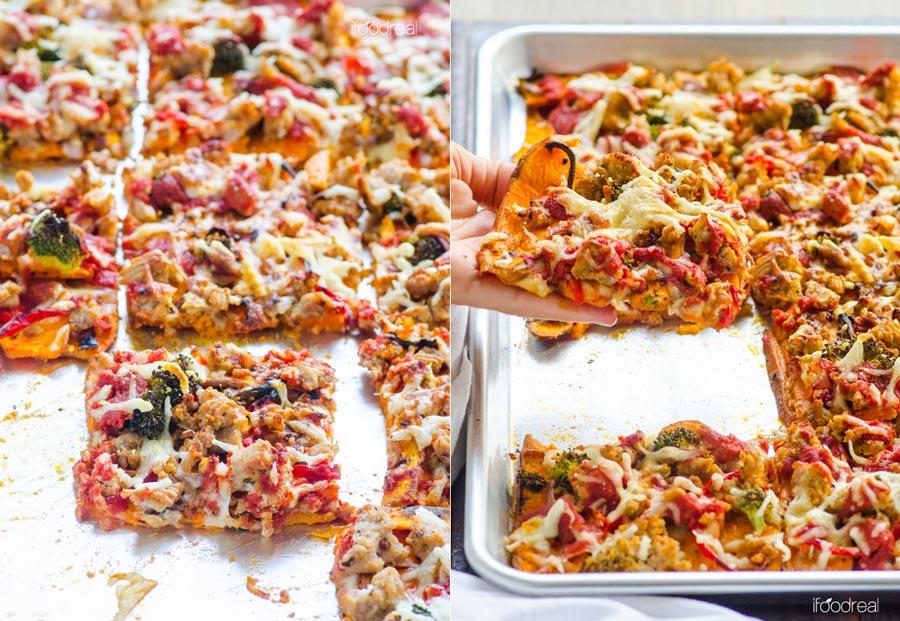 پیتزای سیب زمینی sweet-potato-pizza-crust