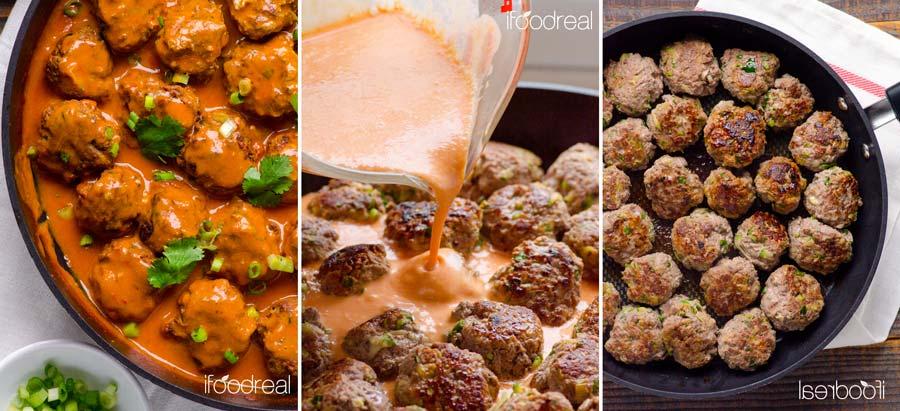 طرز تهیه کوفته کدو سبز و گوشت بوقلمون + سس مخصوص