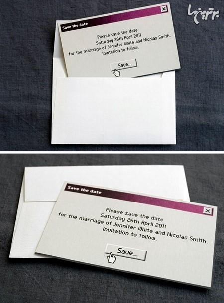 مدلای خلاقانه کارت دعوت عروسی